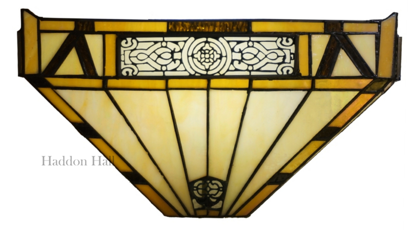WYT29 Wandlamp Tiffany B36cm Schelpmodel Portum