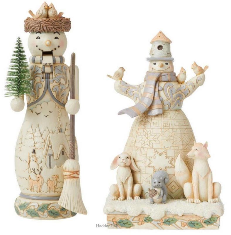White Woodland Set van 2 Snowman H26,5cm Jim Shore