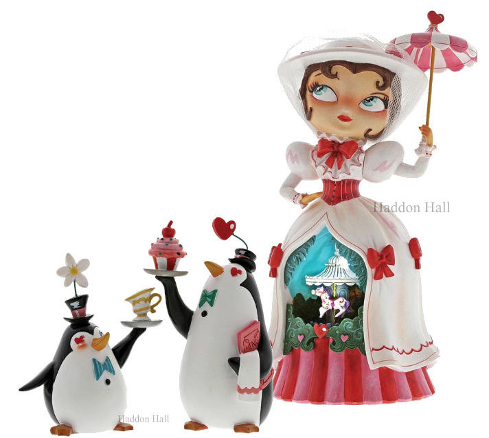 Mary Poppins & Penguin Waiters H25cm Miss Mindy