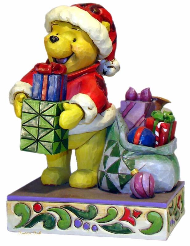 "WINNIE THE POOH ""Presents from Pooh"" H15cm Jim Shore 4016566 zeldzaam"