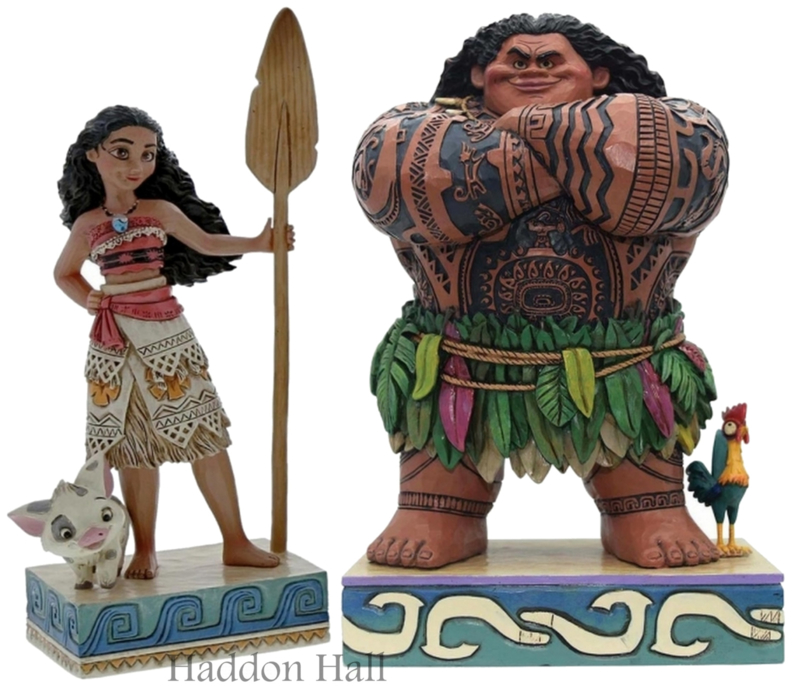 MOANA & MAUI H21cm Set van 2 Jim Shore beelden