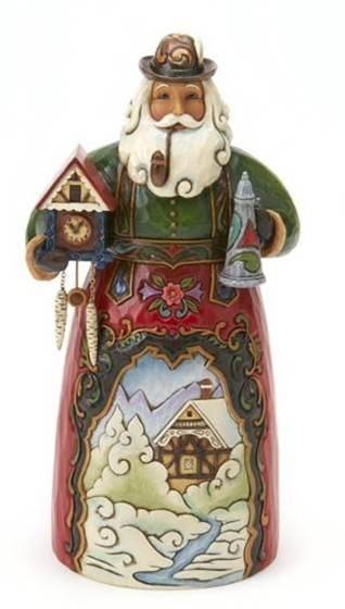 Frohe Weihnachten H18cm Jim Shore German Santa 401764