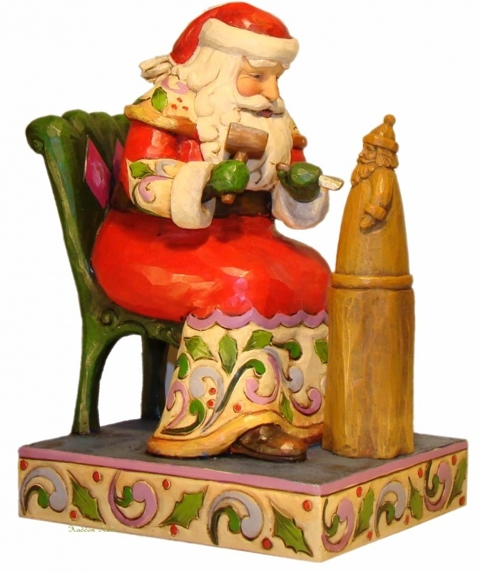 Carved with Care H 18cm Jim Shore  4023454 Santa Kerstman uit 2011!