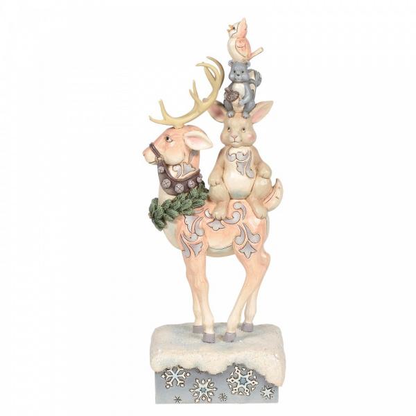 Winter Friends Make The Season Bright H23,5cm Jim Shore Stacked Animals 6006576