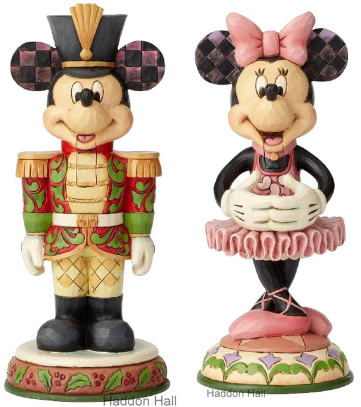 MICKEY & MINNIE Mouse Nutcracker H18cm Set van 2 Jim Shore beelden