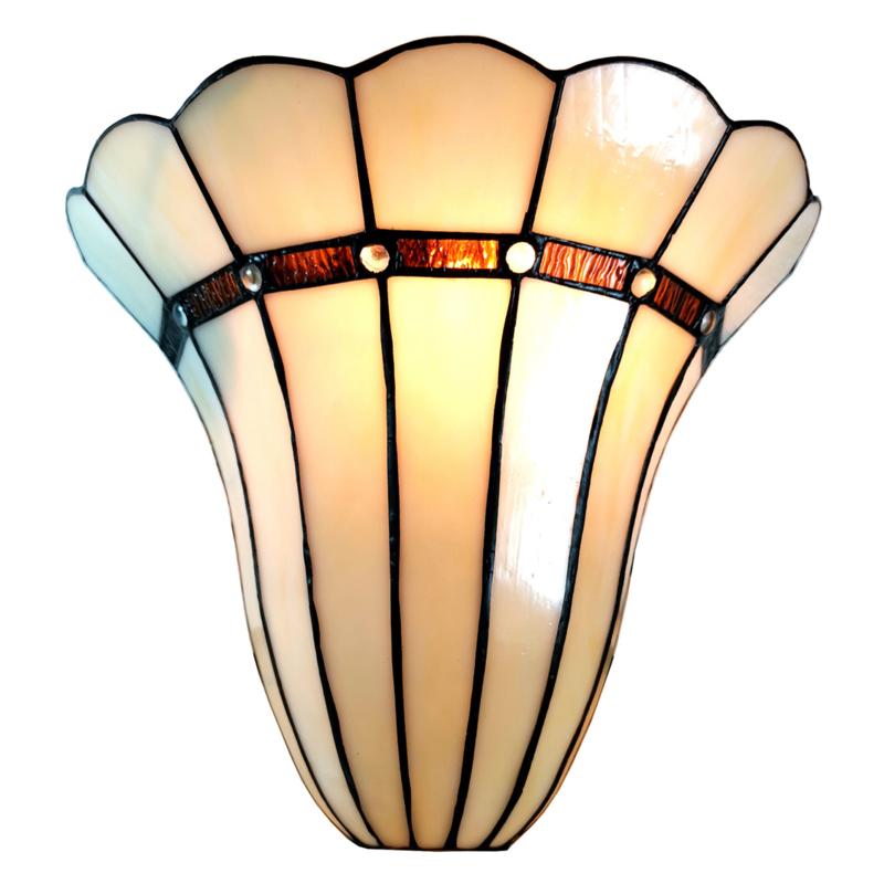 6015 Wandlamp Tiffany B28 H33cm