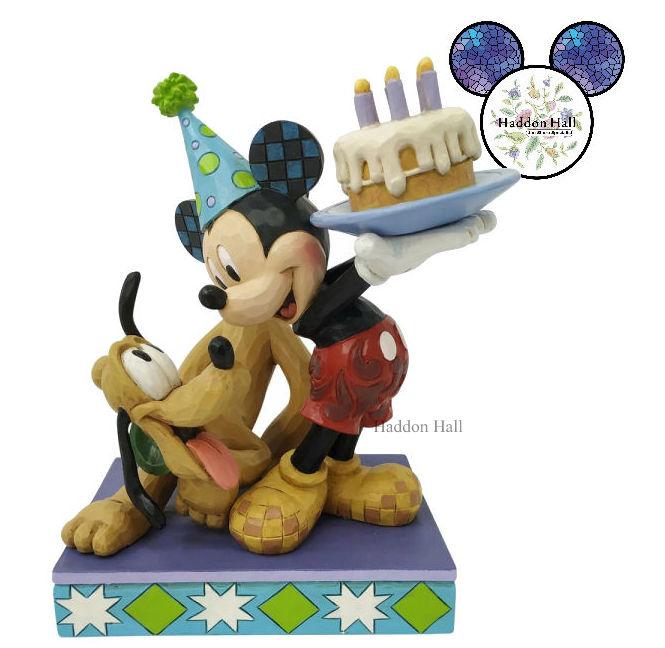Fine Mickey Pluto H16Cm Jim Shore 6007058 Jim Shore Disney Funny Birthday Cards Online Amentibdeldamsfinfo