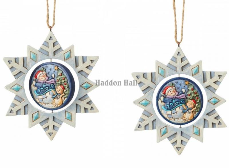 Snowflake Set van 2 Hanging Ornament GWP Jim Shore 6004320