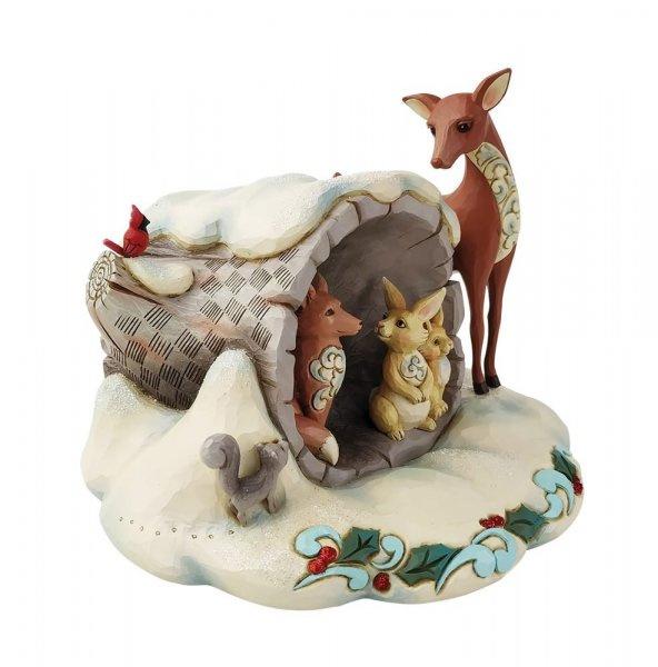 Winter Wonderland Hollow Log with Animals - Jim Shore 6009487