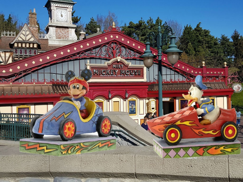 Mickey & Donald Set van 2 Jim Shore figurines