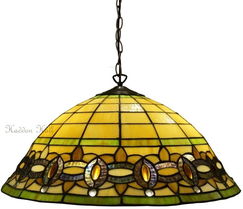 "5804 97 Hanglamp Tiffany Ø51cm ""Olive"""