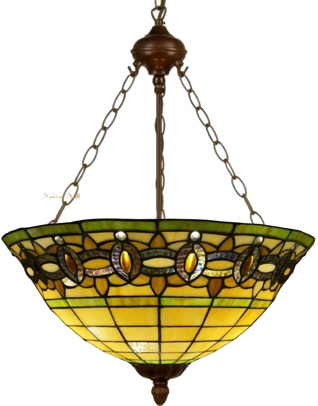 "5804 8842 Hanglamp Tiffany Ø51cm ""Olive"""