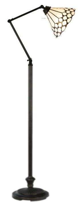 5893 Vloerlamp H165 met Tiffany kap Ø25cm Wilson