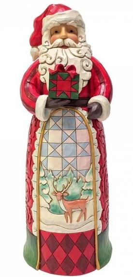 Santa with Gift Statue H 50 cm! Jim Shore  4059915 Kerstman supersize
