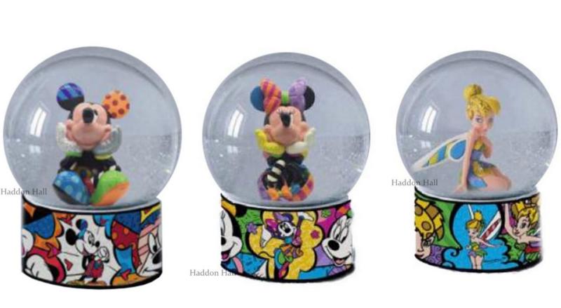 Mickey - Minnie - Tinker Bell Set van 3 Waterbal H13cm Disney by Britto
