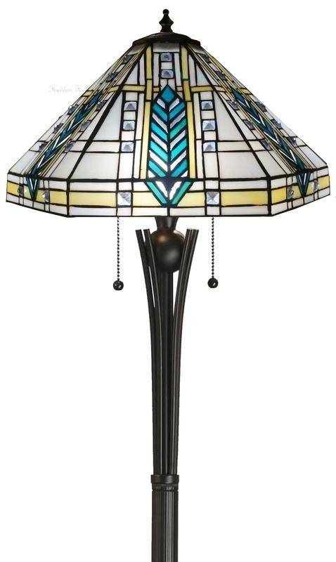 "T044 TG08FB Vloerlamp H156cm met Frank Lloyd Wright kap Ø41cm ""Lloyd"""