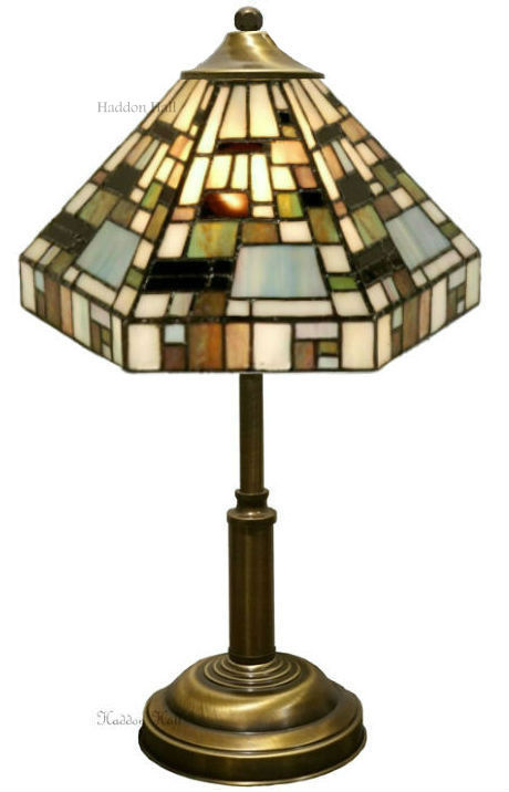 1150 Tafellamp Tiffany H38cm Ø25cm Art Deco Green