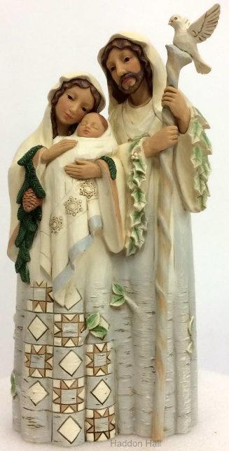 """""""Woodland Holy Family"""" H26,5cm Jim Shore 6001413 Heilige Familie Kerstgroep"""
