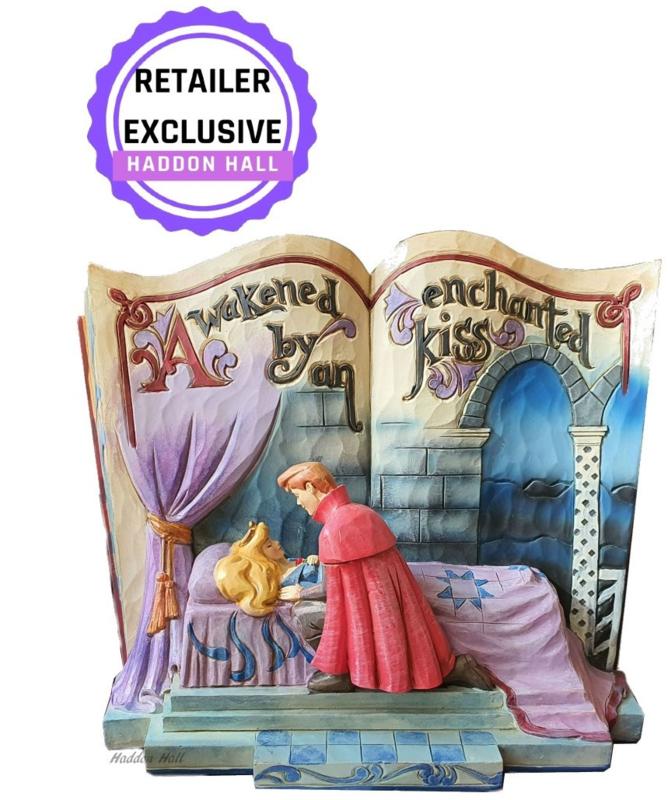 "Aurora - Doornroosje  ""Enchanted Kiss"" Storybook Jim Shore 4043627 retired"