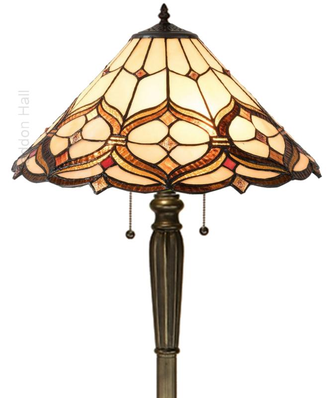 5880 Vloerlamp  H160cm met Tiffany kap Ø47cm Lancaster
