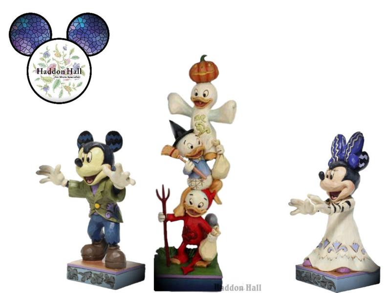 Mickey, Kwik Kwek Kwak & Minnie - Set van 3 Halloween beelden - Jim Shore