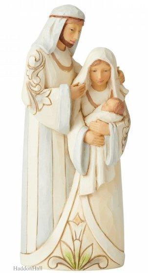 White Woodland Holy Family H17cm Jim Shore 6006375