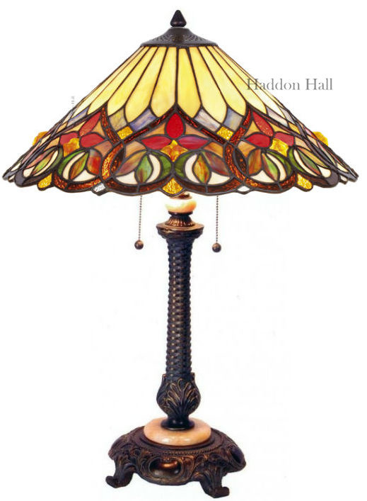 COT14 Tafellamp Tiffany H75cm Ø52cm Sydän