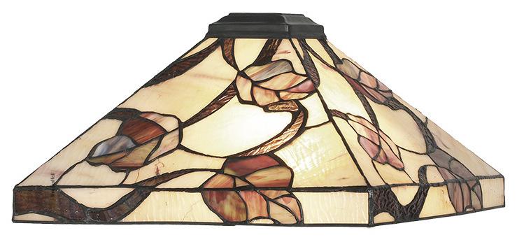 Y14204 Kap Tiffany 36x36cm Purple Leaves