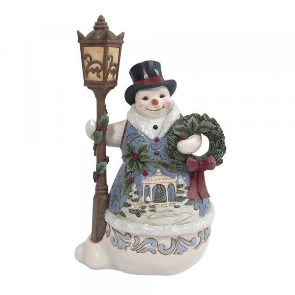 Victorian Snowman with Lampost H24cm Jim Shore 6009494