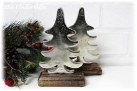 Kerstboom metaal zilver *.