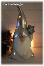 Kerstman waxinehouder *.