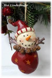 Sneeuwpop in wand *.