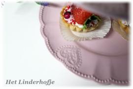 Etagere 2-laags hartje roze