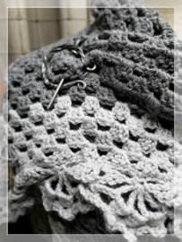 Omslag doek grijstinten handmade