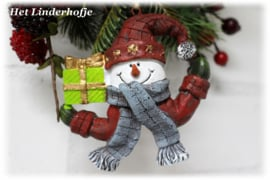 Sneeuwpop met das *.