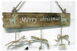 Hangbordje Merry Christmas *.