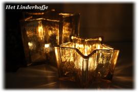 Waxinelicht ster goud*.