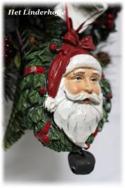 Santa in krans *.