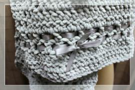 Sjaal ijsblauw soft handmade