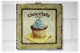 "Schilderij cupcake ""Chocolate""."