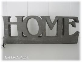 """Rekje """"HOME"""" + 4 haken grey"""
