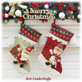 Kerstsok XL4 (gebreide rand)