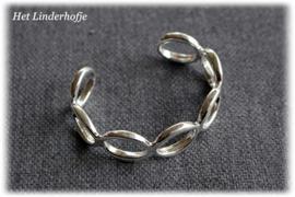 Zilveren armband ringen klem