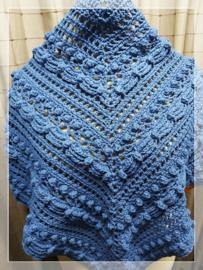 Shawl driehoek blauw