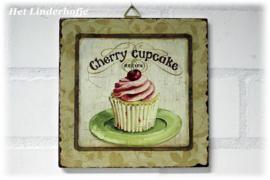 "Schilderij cupcake ""Cherry""."