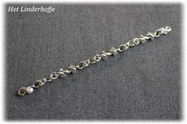 Zilveren armband schakel krul