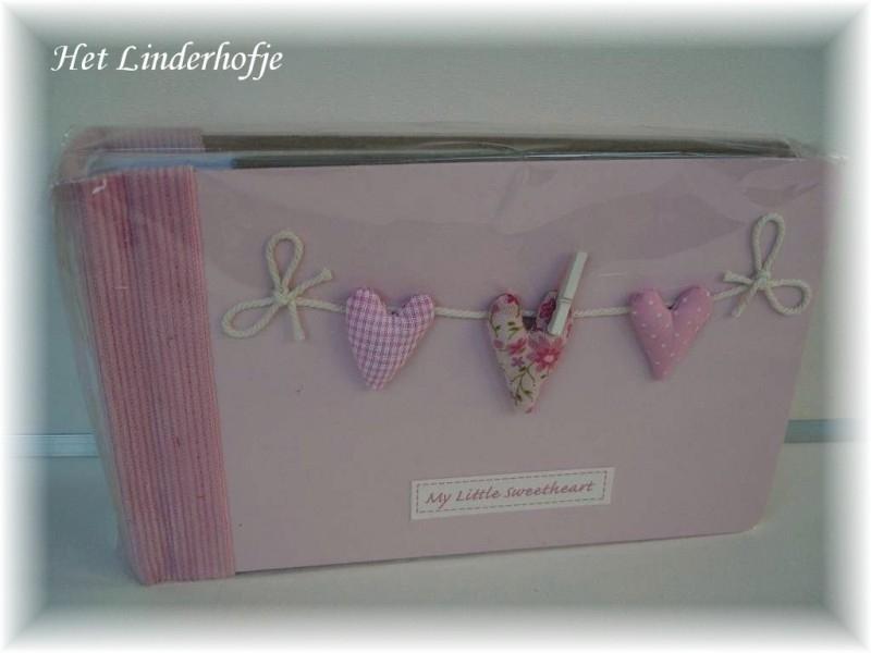 Baby fotoalbum roze hartje