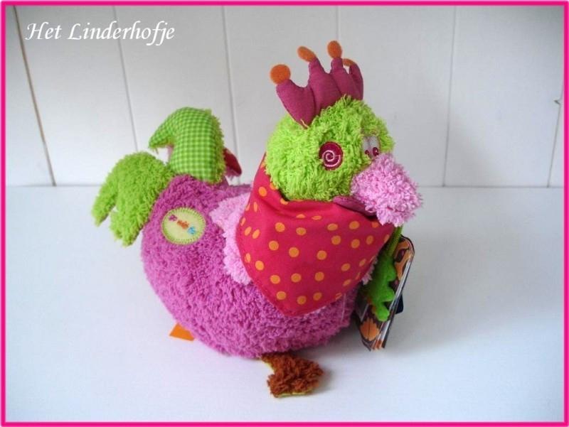 Knuffel Chick roze S