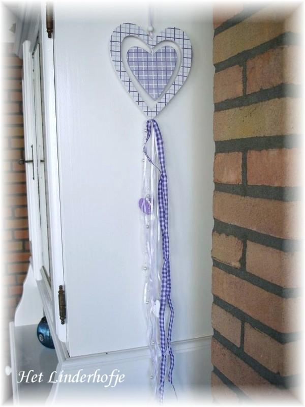 Hart hanger lila