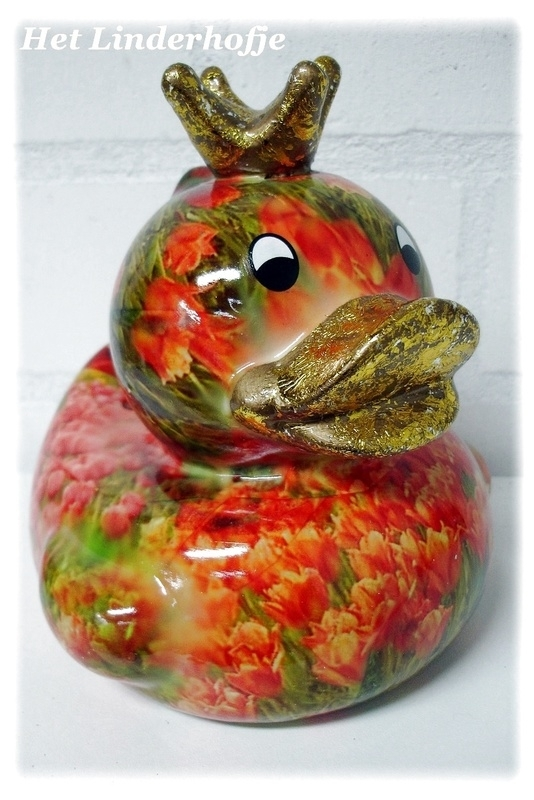 Spaarpot eend tulp